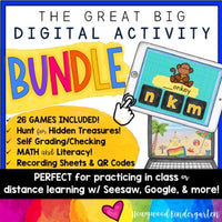 Math & Literacy Digital Activities BUNDLE! For in class or online! SO FUN!