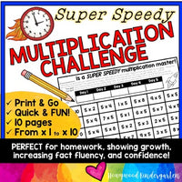 Multiplication Fact Fluency Math Game : for distance learning, homework, FUN!
