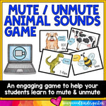 Mute / Unmute Animal Sounds Game for Virtual Meetings on Zoom or Google