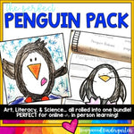 Penguins : Directed Drawing | Animal Research | Literacy | Science ..all in one!
