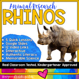Rhinos ...5 days of awesome research mixed w/ literacy, videos, & FUN!
