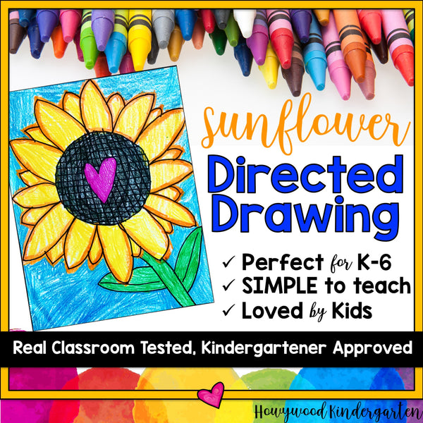 Sunflower Directed Drawing