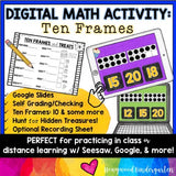Digital Math Activity TEN FRAMES for Google Seesaw Distance Hybrid or In Person!