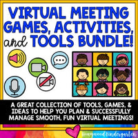 VIRTUAL MEETING Games, Activities, & Tools BUNDLE! Perfect for ZOOM, Google Meet