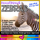 Zebras ... 5 days of awesome research mixed w/ literacy, videos, & FUN!