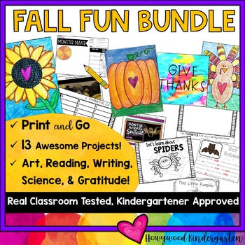 Fall Fun Bundle: 13 AWESOME Projects for Fall / Halloween / Thanksgiving!