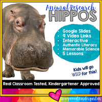 Hippos ... 5 days of animal research mixed w/ literacy skills, videos, & FUN