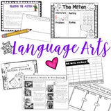 The Mitten : Literacy Fun! Awesome Winter / Mitten Themed Lessons & Activities!