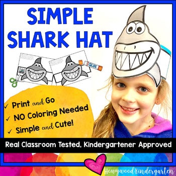 Shark Hats . Simple Headbands . Print, Cut, Glue, & Wear!