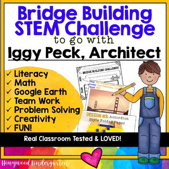 Bridge Building STEM Challenge to go with Iggy Peck Architect