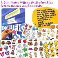 Alphabet Activities for Pocket Chart, Table, Floor! Letter ID, Sounds, Matching