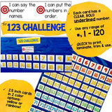 Number Activities for the pocket chart, floor, or table! Number order/name 1-120