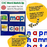 CVC Activities for the Pocket Chart, Table, & Floor! Build, Read, Write, Match