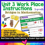 Work Place Instructions to go w/ Bridges in Mathematics Unit 3 for Kindergarten