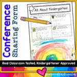 Kindergarten Conference Sharing Sheets : 3 K-friendly options!