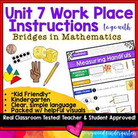 Work Place Instructions to go w/ Bridges in Mathematics Unit 7 for Kindergarten