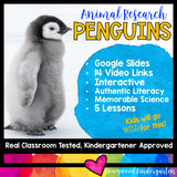 Penguins ...5 days of awesome research mixed w/ literacy skills, videos, & FUN!