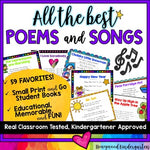 All the BEST Poems and Songs for Primary Students!  Poem of the Week!  EDITABLE!