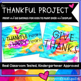 The Thankful Project... A Creative Thanksgiving Activity to Paint