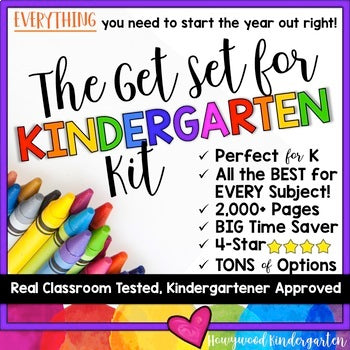 The Ultimate Back to School Bundle... The Get Set for Kindergarten Kit!