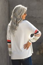 Load image into Gallery viewer, Oversized Colorblock Patchwork Long Sleeve Top