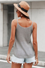 Knitted Cami Tank Top