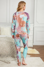 Load image into Gallery viewer, Multicolor Tie-dye Knit Lounge Set