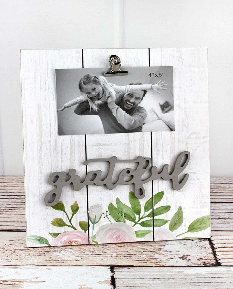 Grateful Floral 4 x 6 Photo Display