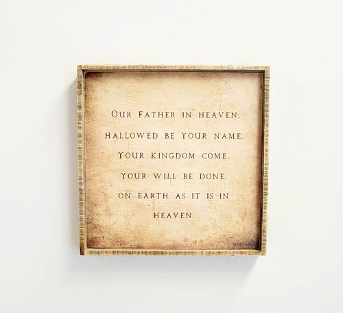 "The Lord's Prayer 21"" x  21"" Barnwood Framed Wall Art"