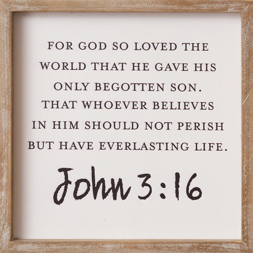 For God So Loved the World Wooden Sign