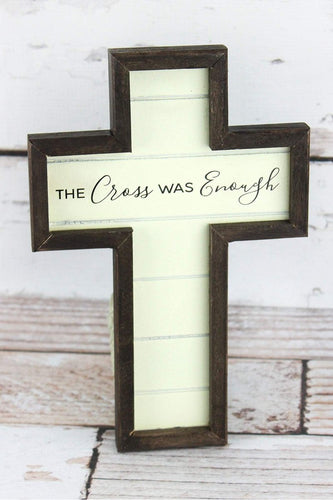The Cross Was Enough Wall Cross