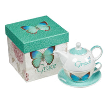 Load image into Gallery viewer, Grace Butterfly Blessings Tea for One Set