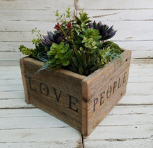 Load image into Gallery viewer, Reclaimed Barnwood Planter/Centerpiece