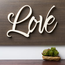 "Load image into Gallery viewer, Script ""LOVE"" Wall Art"