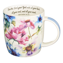 Load image into Gallery viewer, Seeds of Love Four Piece Coffee Mug Set
