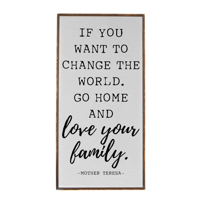Go Home and Love Your family Vertical Barnwood Framed Wall Art