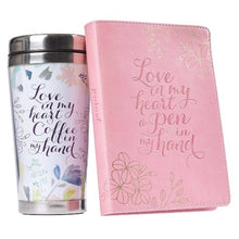 Load image into Gallery viewer, Love in My Heart Travel Mug and Journal Boxed Gift Set
