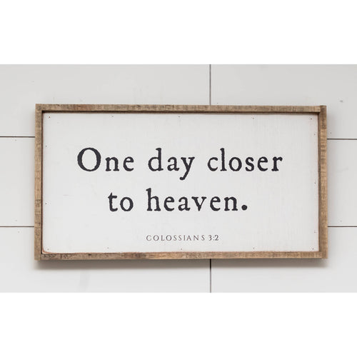 "One Day Closer to Heaven 12"" x 24"" Barnwood Framed Wall Art"