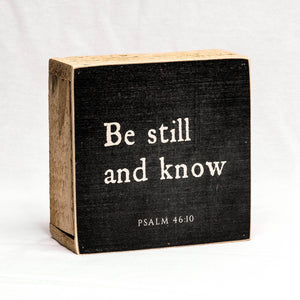 Be Still and Know Block Shelf Sitter