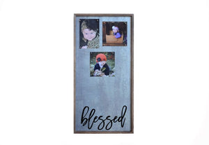 Magnetic Photo Frame - Blessed Vertical Wall Art