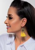 Yellow Old Style Earrings