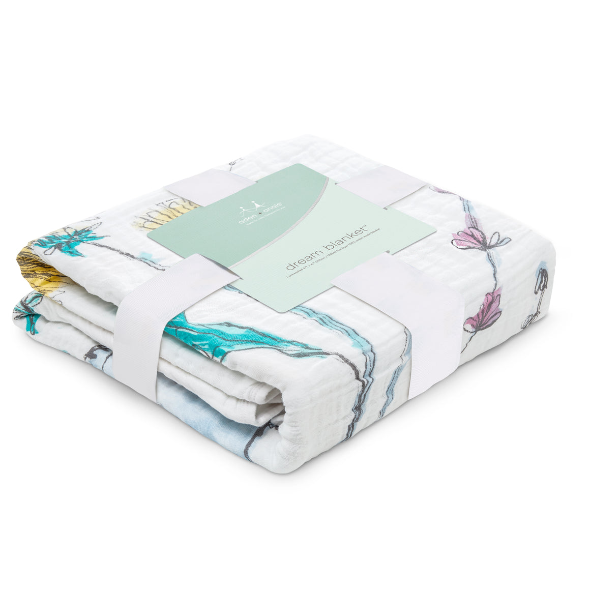 aden + anais forest fantasy rabbits classic muslin dream blanket