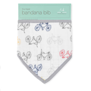 aden + anais leader of the pack cotton muslin adjustable bandana bib