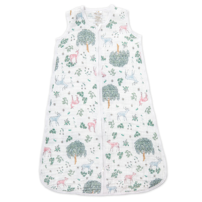 aden + anais forest fantasy - deer classic muslin 1 tog sleeping bag