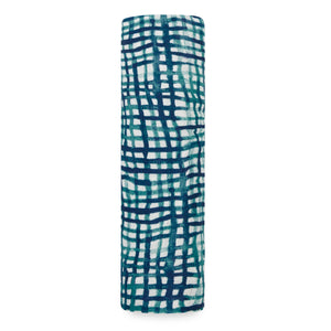 aden + anais seaport - net silky soft bamboo single swaddle