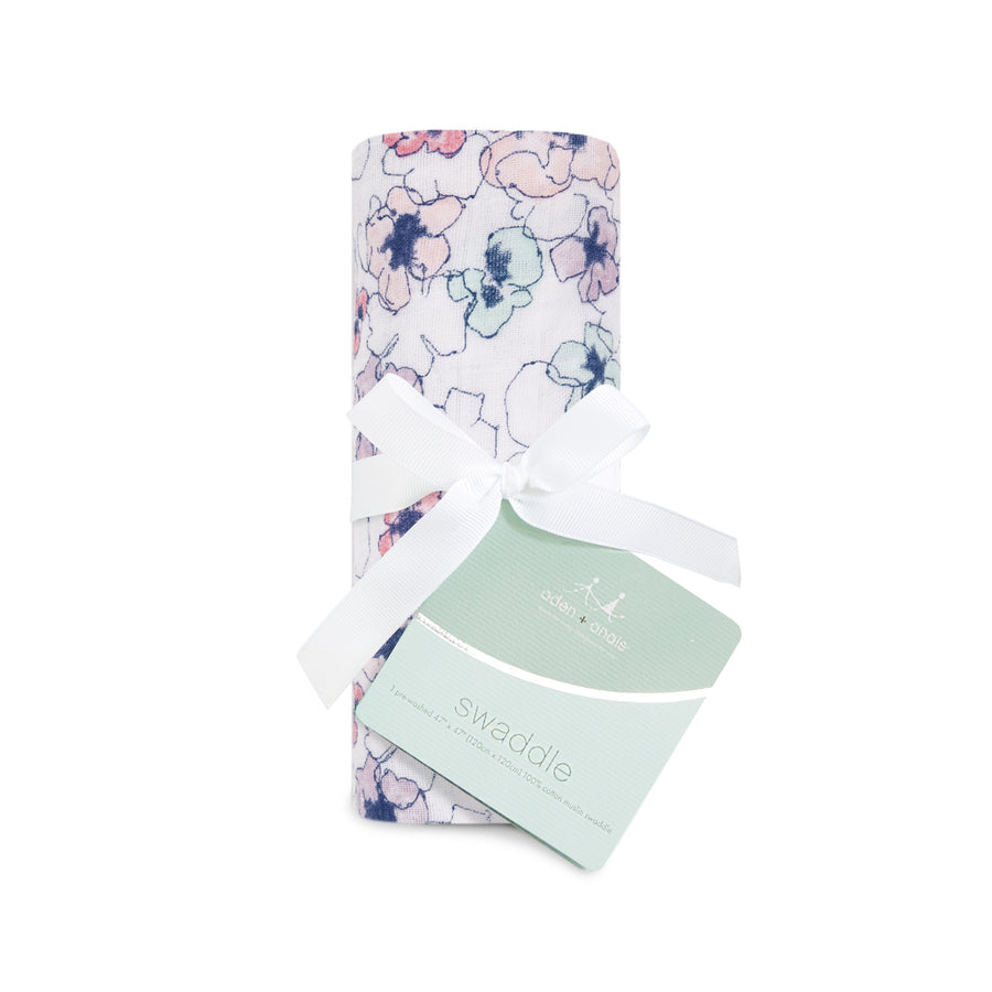 aden + anais trail blooms - flora: single swaddle