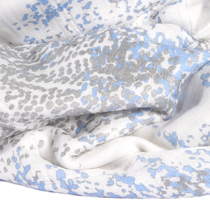 aden + anais metallic silky soft bamboo blue moon birch stroller blanket