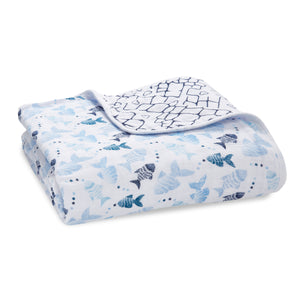 aden + anais gone fishing classic muslin dream blanket