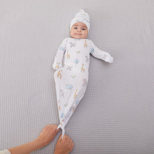 comfort knit™ newborn gown + hat gift set