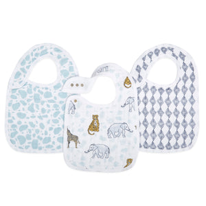 aden + anais jungle 3-pack classic snap bibs